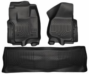 HUSKY LINERS #99711 Front & 2nd Seat Floor Liners Black