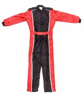 IMPACT RACING #24215407 Racer Suit 2015 1pc Black/Red Medium* Special Deal Call 1-800-603-4359 For Best Price