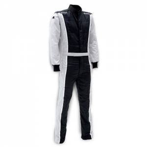 IMPACT RACING #24215513 Racer Suit 2015 1pc Black/Gray Large* Special Deal Call 1-800-603-4359 For Best Price