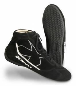 IMPACT RACING #40010510 Shoe Alpha Black 10.5 SFI3.3/5
