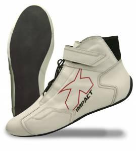 IMPACT RACING #45009008 Shoe Phenom White 9 SFI3.3/5