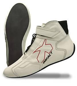 IMPACT RACING #45010508 Shoe Phenom White 10.5 SFI3.3/5