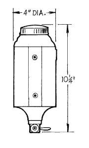 JAZ #230-025-01 JR Dragster Fuel Cell 1qt. W/O Foam