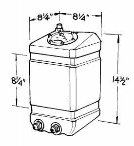 JAZ #250-003-01 3-Gallon Drag Race Cell