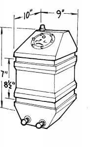 JAZ #250-004-01 4-Gallon Drag Race Cell