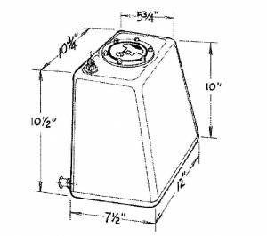 JAZ #290-103-01 3-Gallon Econo Rail Fuel Cell