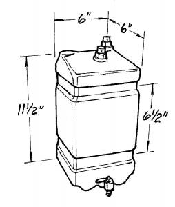 JAZ #600-100-01 Black Radiator Catch Can 1-Gallon