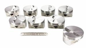 JE PISTONS #258029 SBC Flat Top Piston Set 4.035 Bore -5cc
