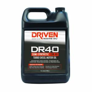 DRIVEN RACING OIL #5408 DR40 High Zinc Semi-Syn Diesel Oil 15w40 1 Gal.