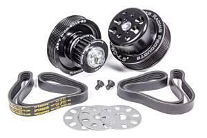 JONES RACING PRODUCTS #1035-S-TP Serpentine Drive Kit SBC Crate w/ Tandem Pumps