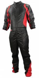 K1 RACEGEAR #20-PR2-NR-L Suit Precision II Black / Red Large