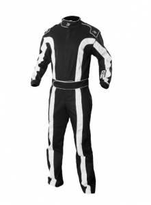 K1 RACEGEAR #20-TR2-NW-ML Suit Triumph 2 Black Medium / Large SFI 1