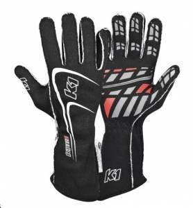 K1 RACEGEAR #23-TR1-N-S Glove Track1 Black Small SFI 5