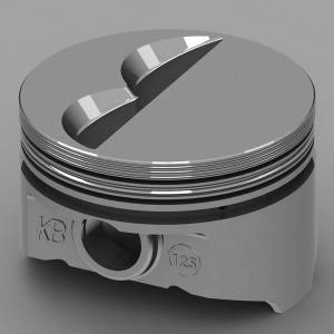 SBC Flat Top Piston Set 4.155 Bore -7cc