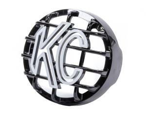 KC HILITES #7219 4in Black Rally Stone Guard Each