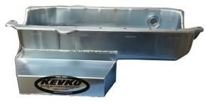 KEVKO OIL PANS & COMPONENTS #1090NRH SBC Oil Pan Modified 7qt RH Dipstick 86-Up