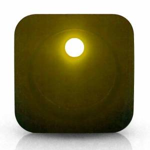 KEEP IT CLEAN #KICSW16Y Square Framed LED Yellow
