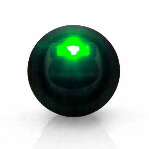 Lever Style LED Round Frame Green