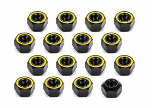 KLUHSMAN RACING PRODUCTS #KRC-8211 Lugnut 20Pk 5/8-11 Alum Refl Yellow