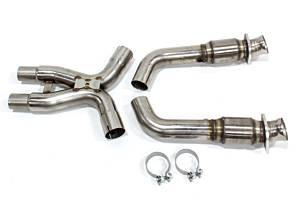 KOOKS HEADERS #11323200 X-Pipe Catted 3in 06-10 Mustang GT 500