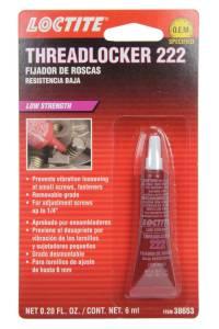 LOCTITE #555339 Threadlocker 222 Low Str ength Purple 6ml