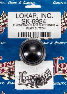 LOKAR #SK-6924 2in Shift Knob Venetian Black w/Button
