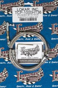 LOKAR #TCP-1000HT36 Hi-Tech Throttle Cable Kit 36in Stainless