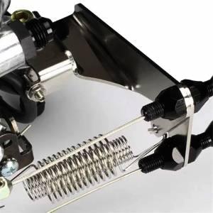 LOKAR #XTCB-40HS Throttle Cable Bracket Holley Sniper Black