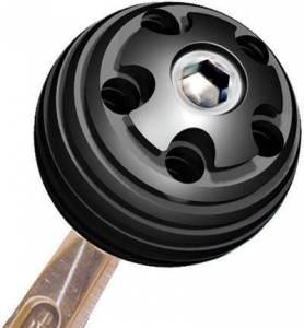 LONGACRE #52-22601 Shifter Knob Alum 3/8in-16