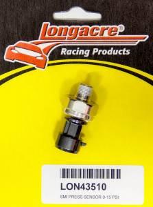 LONGACRE #52-43510 Pressure Sensor 0-15psi w/out QD Lead