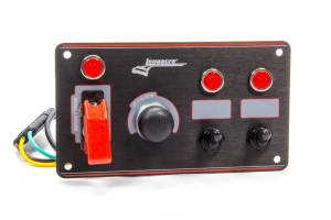 LONGACRE #52-44867 Ignition Panel Black w/2 Acc. and Pilot Light