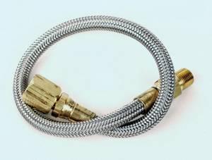 LONGACRE #52-45040 Steel Braided Gauge Line 48in