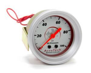 LONGACRE #52-46511 Oil Pressure Gauge 0-100 PSI AccuTech Sportsman