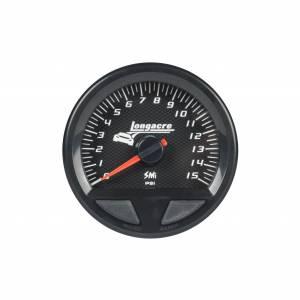 LONGACRE #52-46742 Waterproof SMI Fuel Pressure Gauge 0-15psi