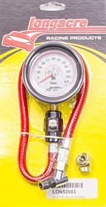 LONGACRE #52-52003 Tire Gauge 0-60PSI 2.5in GID Deluxe