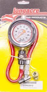 LONGACRE #52-52012 Tire Gauge 0-45PSI 2.5in GID Deluxe
