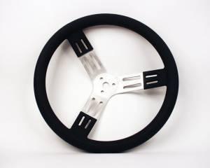 LONGACRE #52-56801 15in Steering Wheel Blk Alum Smooth Grip
