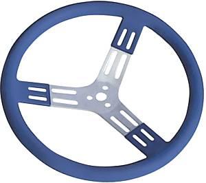 LONGACRE #52-56803 15in Steering Wheel Blue Alum Smooth Grip
