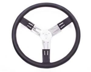 LONGACRE #52-56811 17in. Steering Wheel Black Alum. Smooth Grip