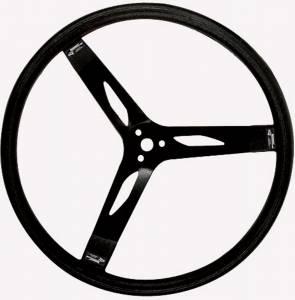 LONGACRE #52-56851 17in. Steering Wheel Black Steel Smooth Grip