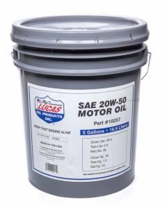 LUCAS OIL #10257 SAE 20W-50 Plus Motor Oi l/1x1/5 Gallon Pail