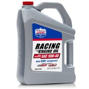 LUCAS OIL #LUC10913 10w40 Semi Synthetic Racing Oil 5 Quart Jug