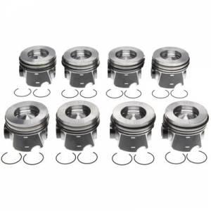 MICHIGAN 77 #2243666WR050MM Piston Set w/Rings Ford 6.4L Diesel 8pk
