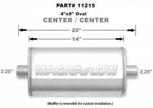 MAGNAFLOW PERF EXHAUST #11215 Stainless Muffler 2.25in. Center In/Out