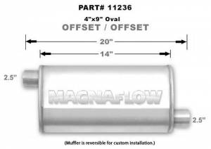 MAGNAFLOW PERF EXHAUST #11236 Stainless Muffler 2.5in Offset In/Out
