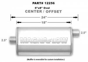 MAGNAFLOW PERF EXHAUST #12256 Stainless Muffler 2.5in Offset In/Center Out