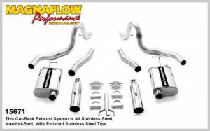 MAGNAFLOW PERF EXHAUST #15671 99-04 Mustang GT 4.6L Cat Back Kit