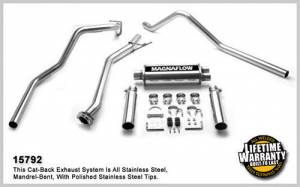 MAGNAFLOW PERF EXHAUST #15792 03-07 GM P/U 4.3/4.8/5.3 EC/SB Cat Back Kit