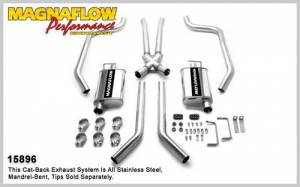 MAGNAFLOW PERF EXHAUST #15896 67-69 GM F Body 2.5in Dual Exhaust System