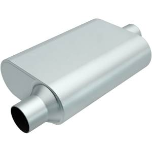 MAGNAFLOW PERF EXHAUST #R22441 Rumble Aluminized Muffler 2.25in Offset In/Center